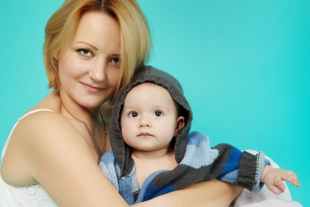 Beautiful baby and happy mother Stock Photo - 18812819