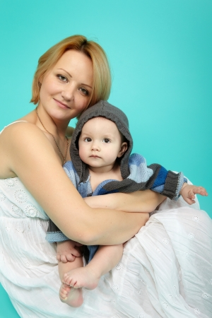 Beautiful baby and happy mother Stock Photo - 18812832