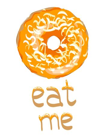 Sweet donut vector. Glaze. Eat me. Vector Image. Scalable to any size.Icon for Site 写真素材 - 131915431