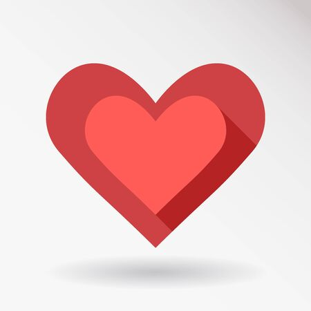 Heart Icon Vector. Love symbol. Valentines Day sign, emblem isolated on white background.