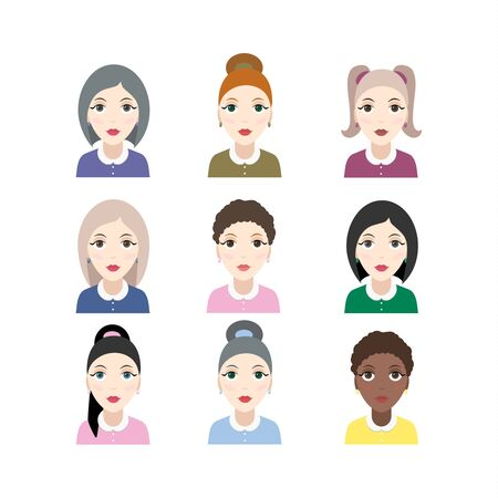 Group of diversity women with different skin color