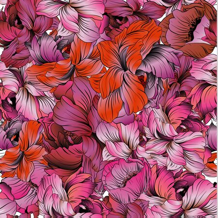 Floral pattern, can use be for shawl, decor, fabric.Vector illustration