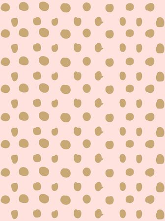 Vector seamless pattern. Hand drawn polka dot texture. Modern graphic design.