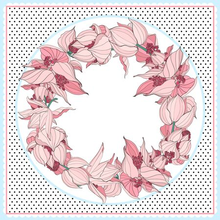 Floral pattern, can use be for shawl, decor, fabric.Vector illustration. Great for menu, banner, label logo flayer Illusztráció
