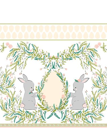Easter design for textile, fabric decor. EPS10