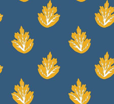 Seamless vector pattern with oak leaf, orang oak leaf pattern