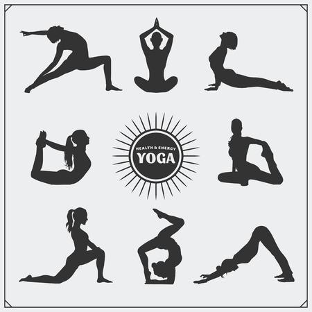 poses: Yoga poses and yoga .