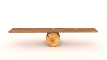 Seesaw concept made with 3d rendering...