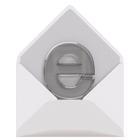Email concept isolated on white background. Made with 3d rendring... 版權商用圖片