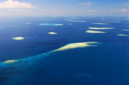 Blue infinity, atolls  of Maldives