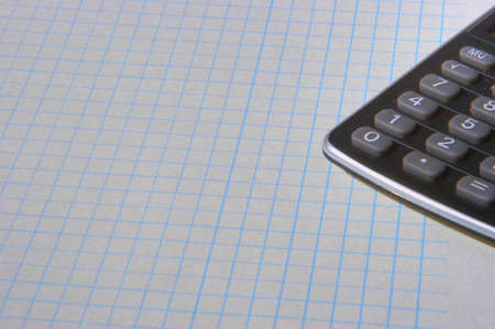 black calculator on white sheet Stock Photo - 12252815