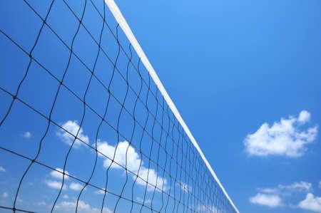 volleyball net: beach volleyball net on a blue sky