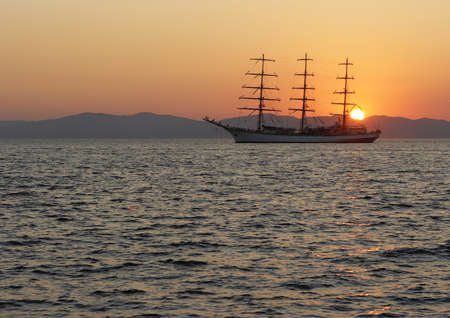 Sail on the sunset photo