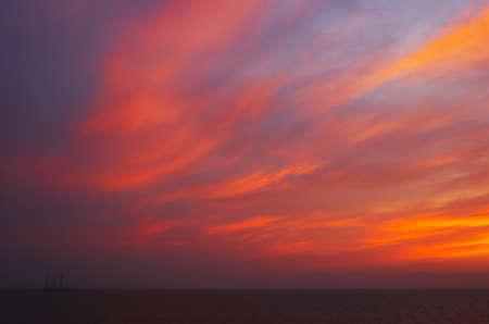 Sail on the sunset Stock Photo - 12622622
