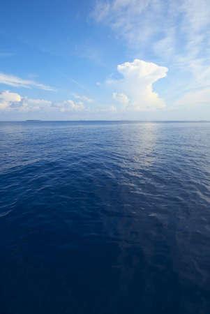 precipitation: Nice seascape in a sunny day Stock Photo