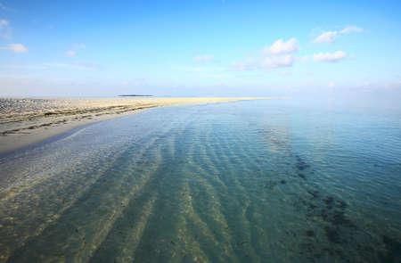 Desert tropical beach on the island Kuredu in the Indian Ocean, Maldives