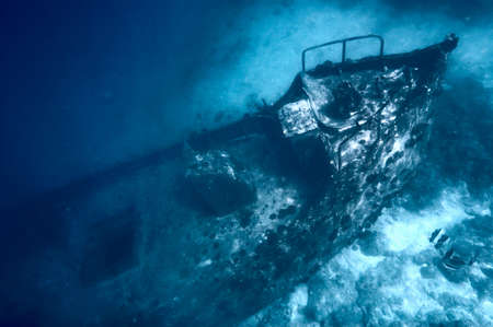 Ancient sunken ship photo