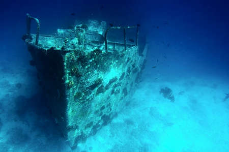 Ancient sunken ship Stock Photo - 13102933
