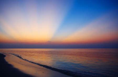 Sunset view with nice sunburst Stock Photo - 13103345