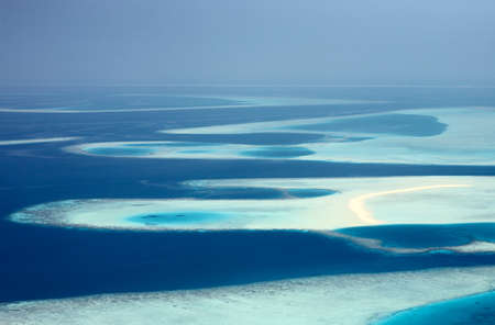 continuum: Blue Infinity, atolls of Maldives, The Indian Ocean Stock Photo