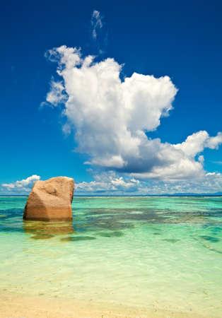 ladigue: Seychelles beach, LaDigue island Stock Photo