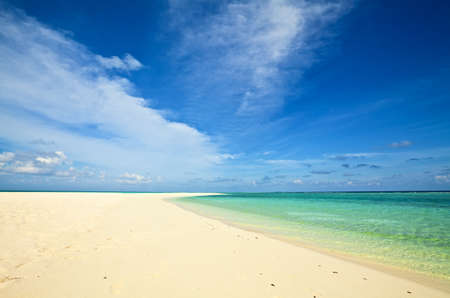 Coral tropical beach, The Indian Ocean, Maldives Stock Photo - 13148014