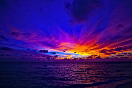 Dream sunset in the Indian Ocean, Maldives