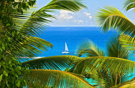 Dream seascape view, Seychelles, La Digue island photo