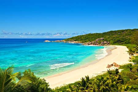 Beach Grand Anse - best beach in the world, Seychelles, La Digue island