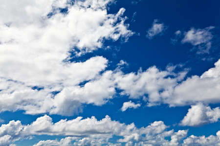 endlessness: Blue sky and white clouds Stock Photo