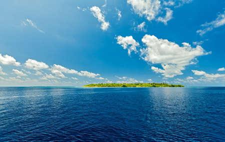 uninhabited: Small uninhabited island in the Indian Ocean, Maldives Stock Photo