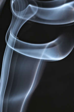 tracery: Tracery of the smoke on black background