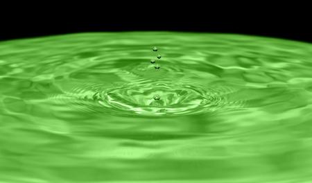 Drops water on green background Reklamní fotografie