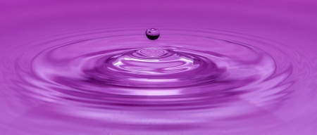 Drop water violet Stock Photo