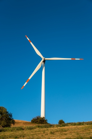 Wind turbine shovel against blue sky Reklamní fotografie