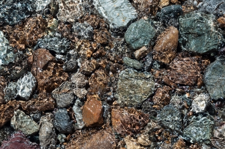 Texture stones in water