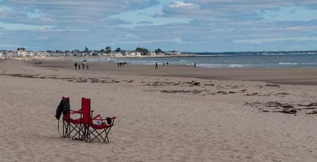 Beach in Rhode Island in the Atlantic Ocean