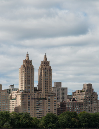 Buildings in New York City viewed from Central Park Editorial