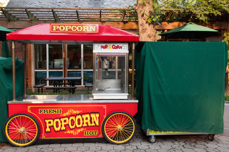 Popcorn cart in Central Park