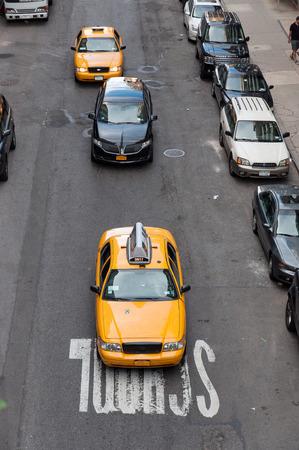 Taxi on a Manhattan street