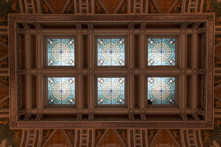 Ceiling of the Library of Congress Washington DC Editorial