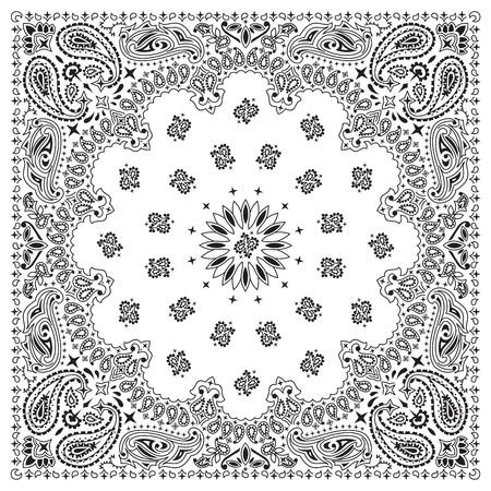 handkerchief: White bandana with black ornaments