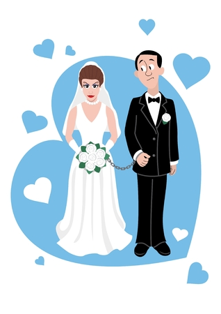 A young Caucasian couple . Vector