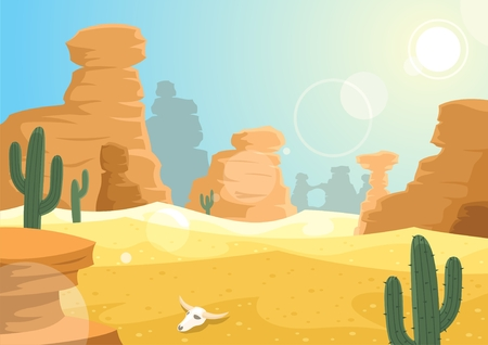 A desert landscape. No transparency used. Vector
