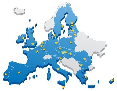 Karte der Europäischen Union.