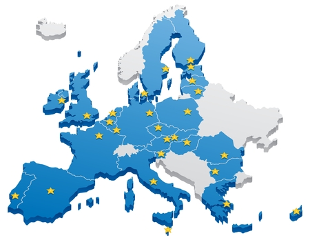 european union: Map of the European Union.