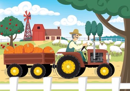 old barn: Old MacDonald era una fattoria.  Vettoriali