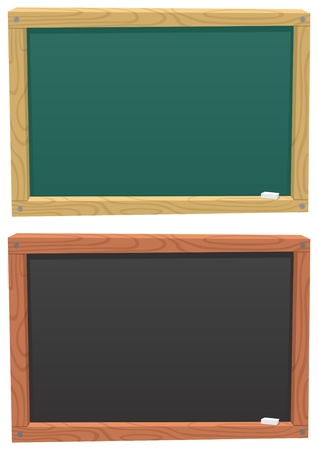green board: A cartoon blackboard, colored in 2 different ways.