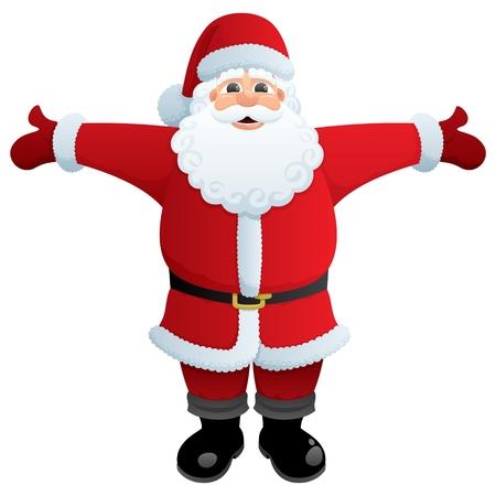 greybeard: Santa, pronto a darvi un abbraccio. Non utilizzata la trasparenza. Base sfumature (lineare) utilizzati.  Vettoriali