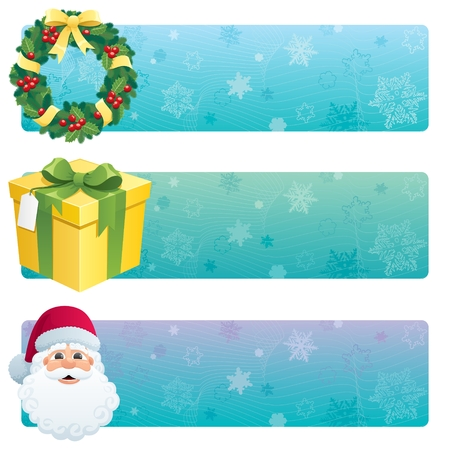 3 banners for the holiday season.  No transparency used. Basic (linear) gradients used. Stock Vector - 7745994